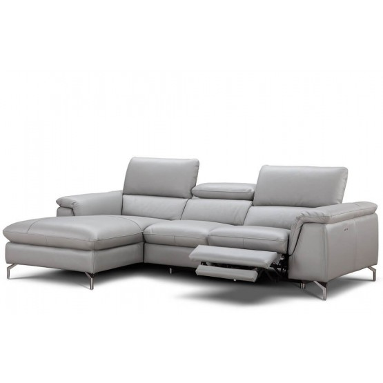 Serena Premium Reclining Leather Sectional photo