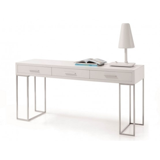 SG02 Modern Chrome Office Desk with Storage Drawers photo