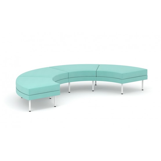 Arcipelago Four Seater Curved Pouf (180°) photo