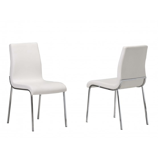 Side-4311 Dining Chair, Set of 4, White photo