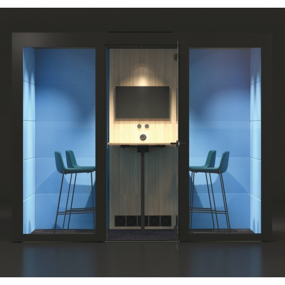 L Large Silent Room with Melamine Walls, Glass Door photo