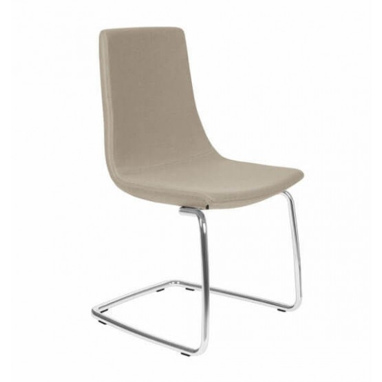 North Cape Low Back Armless Meeting Chair, Cantilever Steel Frame Base photo