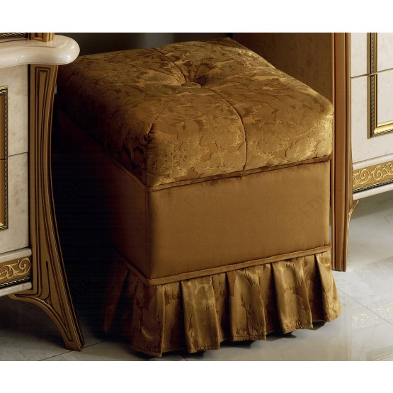 Melodia Fabric Vanity Pouf photo