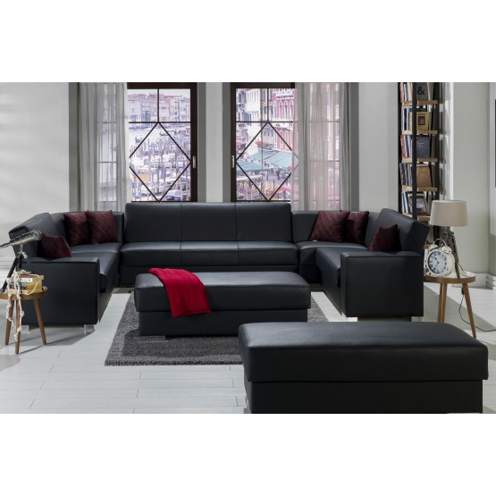 Kobe PU/Storage Sleeper Modular Sectional Sofa, Configuration С photo