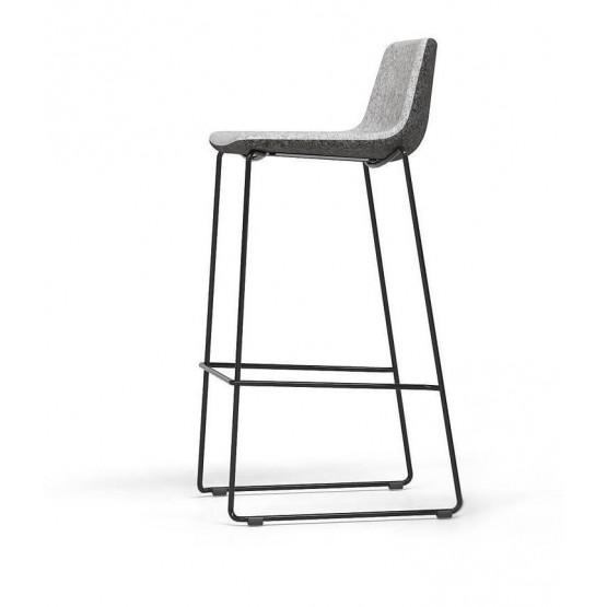 Tango Armless Counter Stool, Wire Steel Base photo