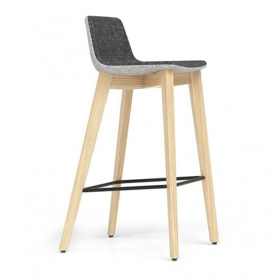Tango Armless Counter Stool, Solid Wood Base photo