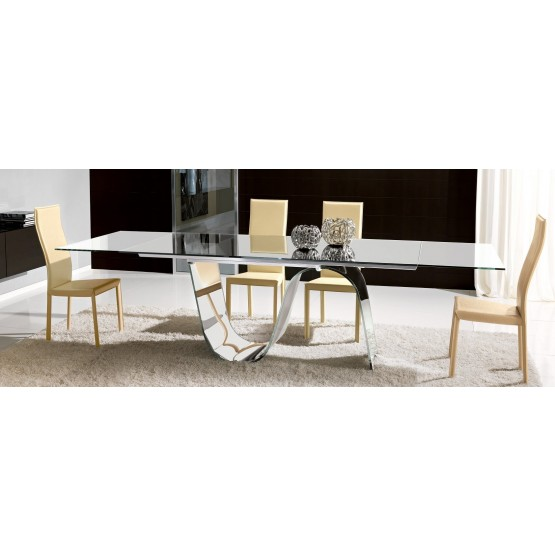 Modern Infinity Extendable Rectangular Dining Table photo