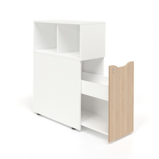 Boxi Office Storage Lockable Tower w/Top Bookcase photo