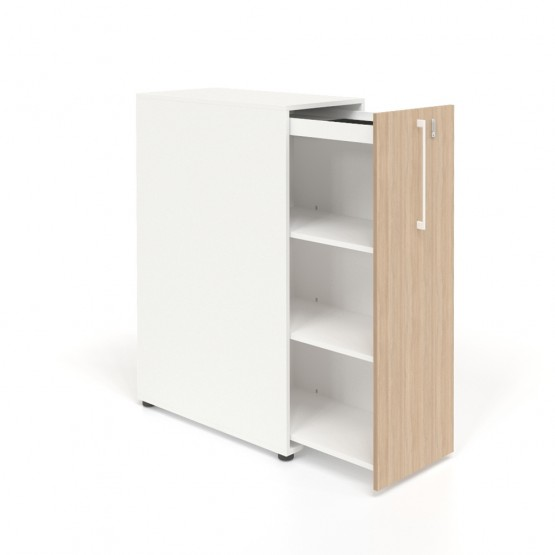 Boxi Office Storage Lockable Tower w/3 Shelves & Pencil Tray photo