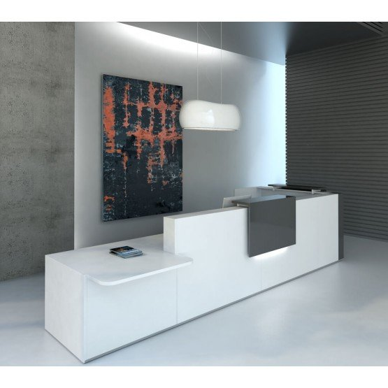 TERA L Shaped Reception Desk w/Counter Top photo
