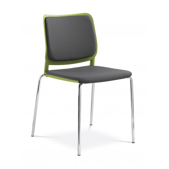 Wait Conference Armless Chair, Upholstered Seat & Back, 4-leg Base photo