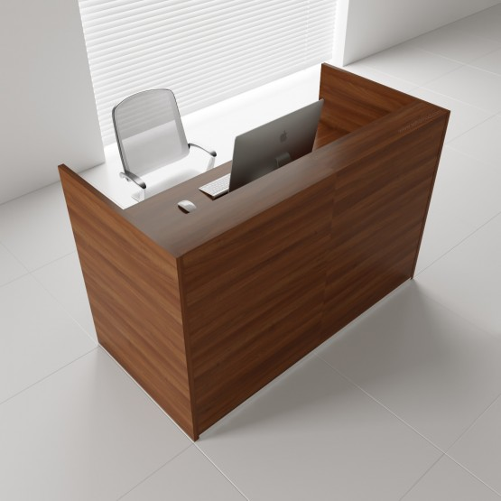 TERA Medium Reception Desk, Lowland Nut photo