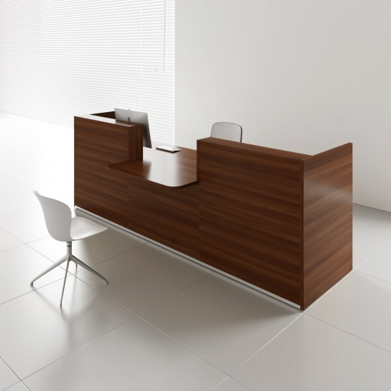 TERA Countertop Large Reception Desk, Lowland Nut photo