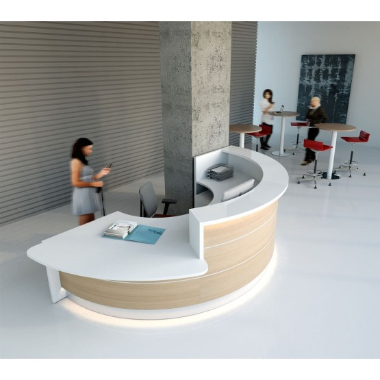 VALDE C Shaped Reception Desk w/Counter Top photo