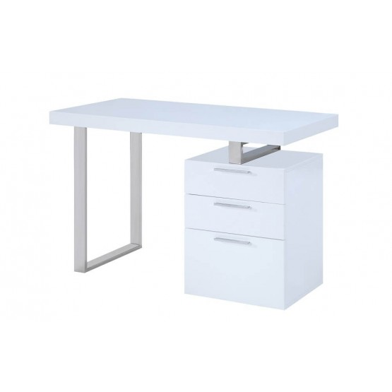 Vienna Modern Office Desk with Storage Drawers photo