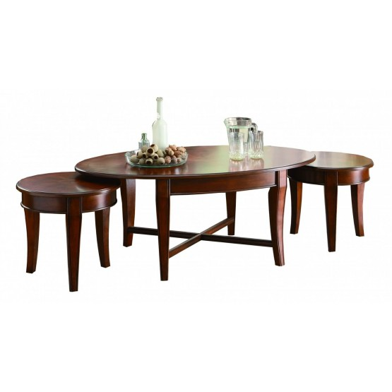 Violetta Wood Table Set (Coffee Table + 2 Small End Tables) photo