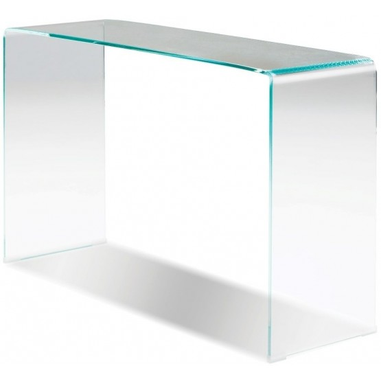 Glacier Clear Glass Sofa Table photo