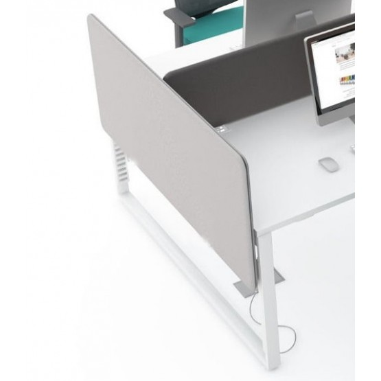 Twin Acoustic Fabric Side Screen for Bench Desk photo