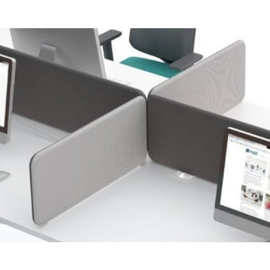 Sonic 2-Piece Acoustic Screen for Yan Desk Bench photo