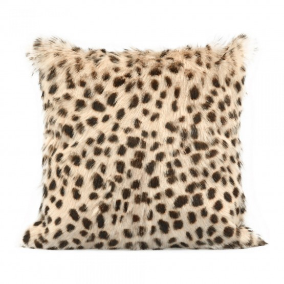 Spotted Goat Fur Pillow photo