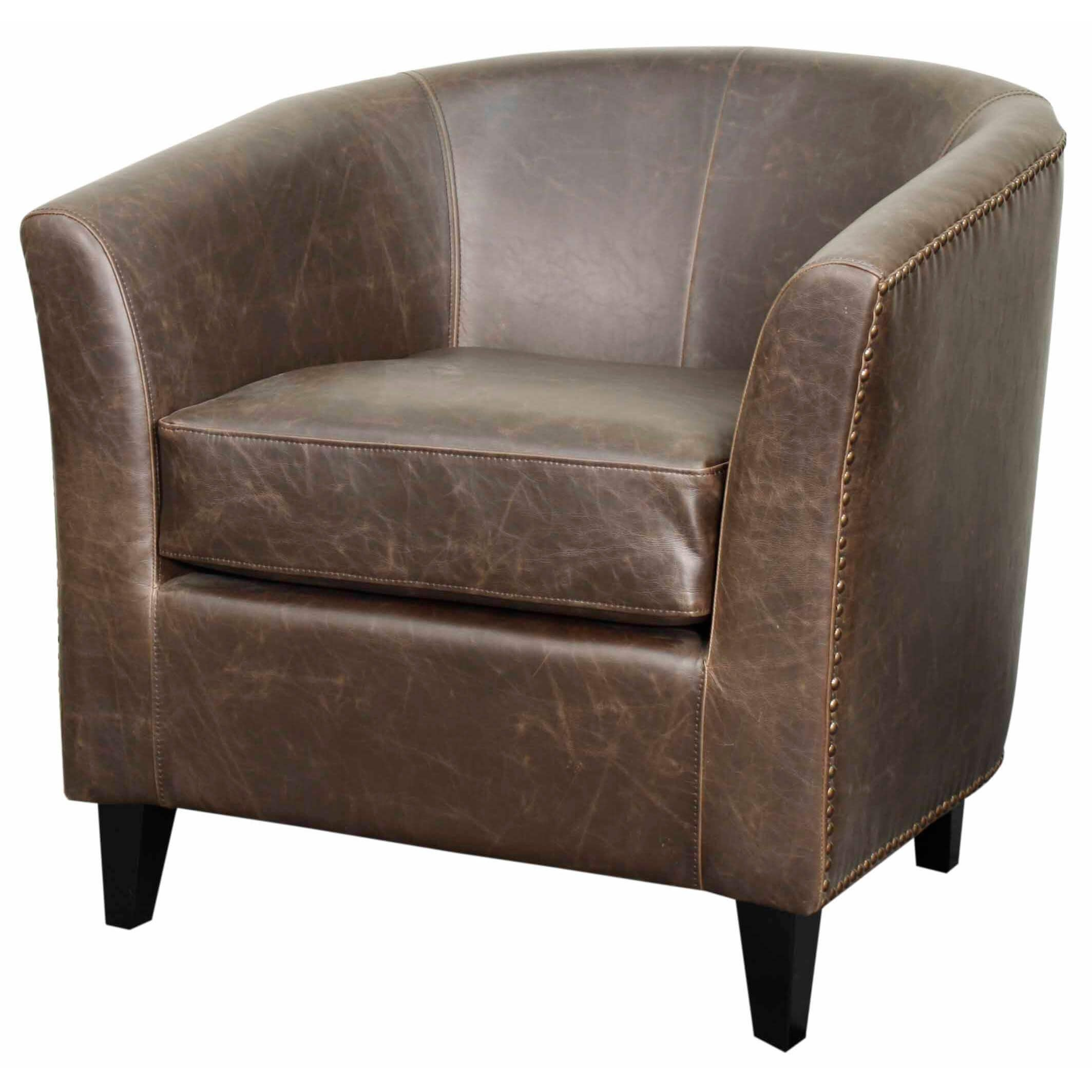 Picture of: Orson Bonded Leather Tub Chair Black Legs Vintage Dark Brown By Npd New Pacific Direct Furniture Sohomod Com