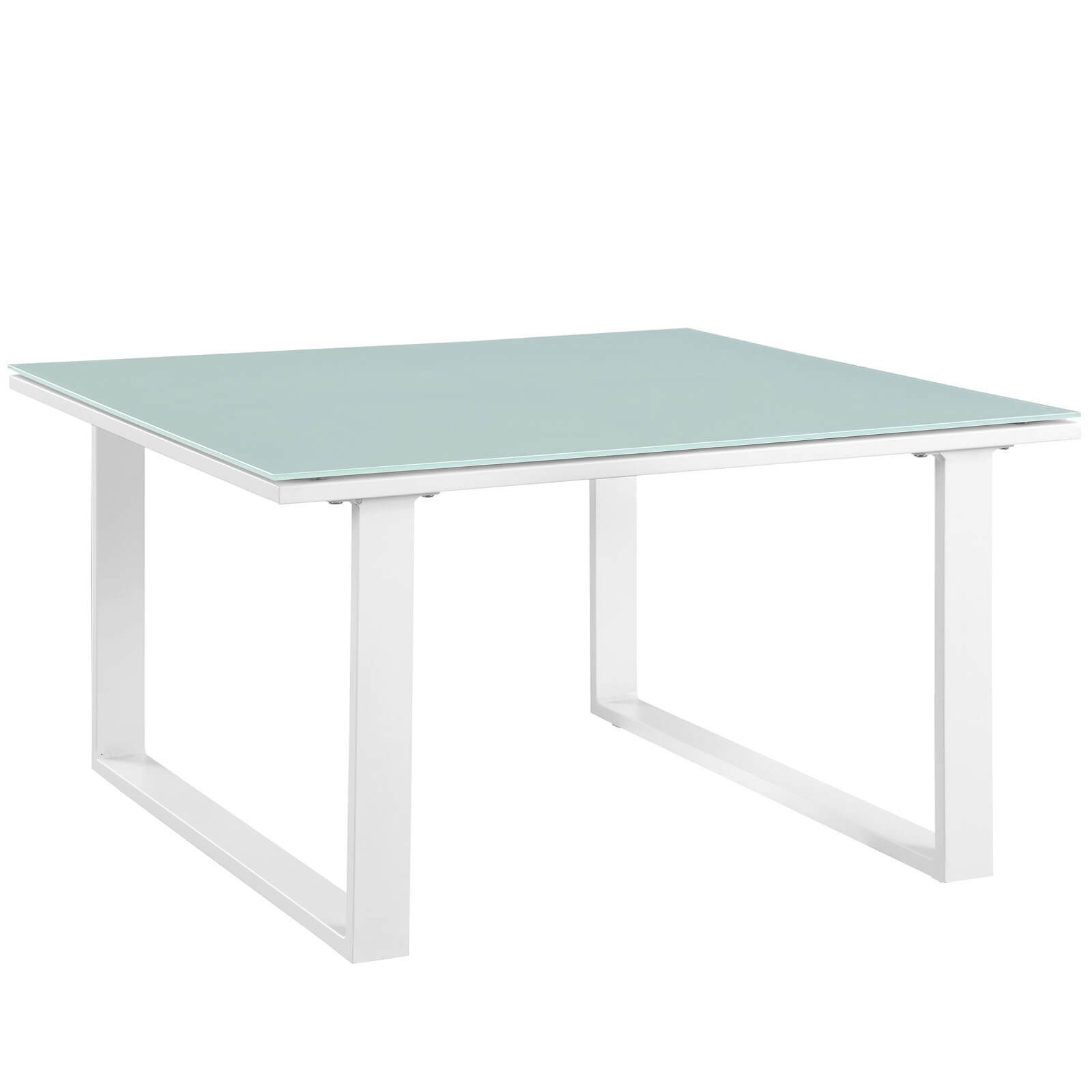 Fortuna Outdoor Patio Side Table White By Modway Furniture