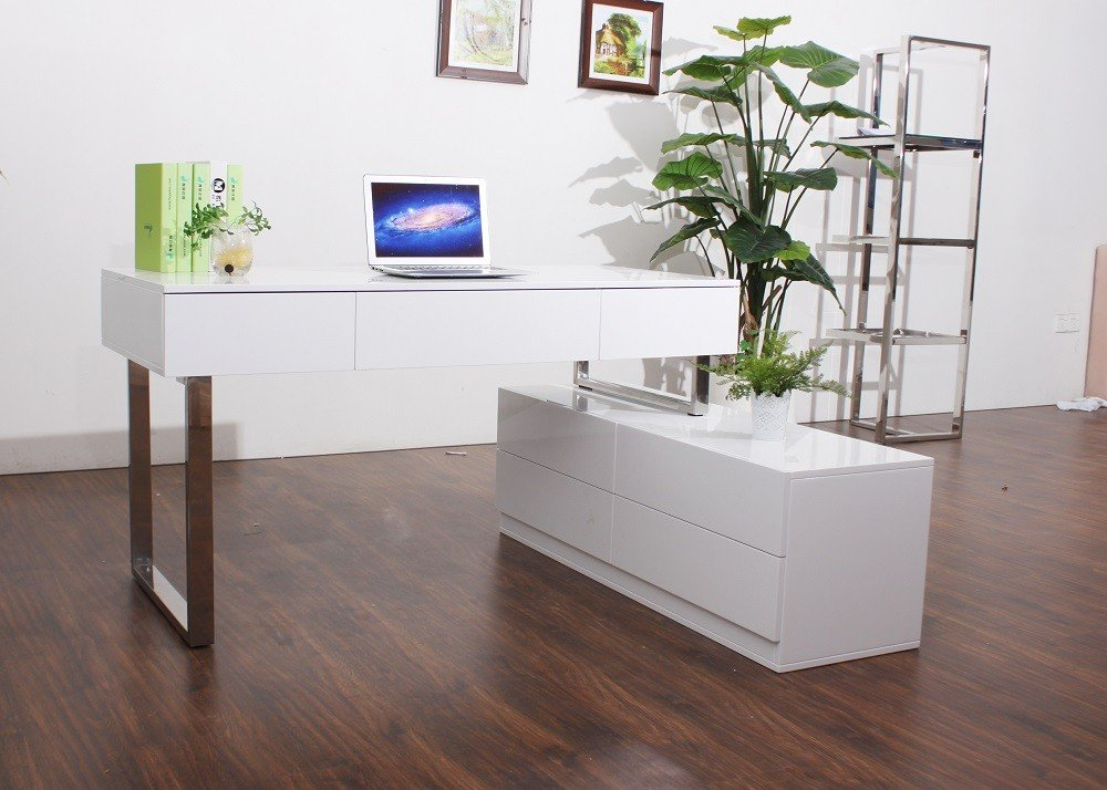 KD12 Modern Office Desk with Storage Drawers