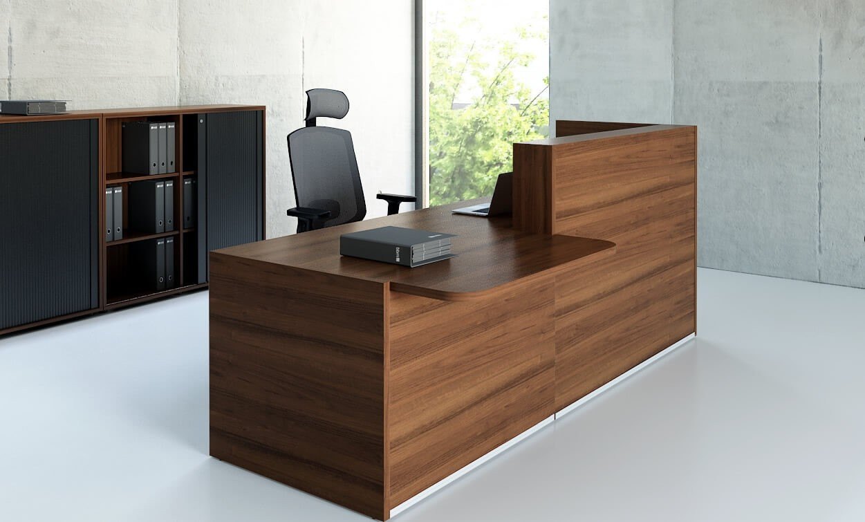 Tera Straight Reception Desk W Counter Top By Mdd Office