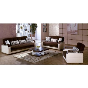 Natural Living Room Set, Colins Brown by Sunset International Trade