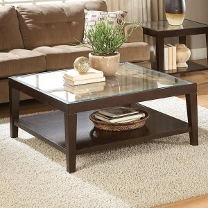 Vincent Glass Coffee Table by Homelegance