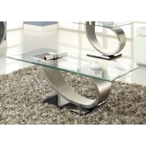 Silvera Glass Coffee Table by Homelegance