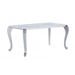 110 Modern Rectangular Marble Dining Table by ESF Furniture