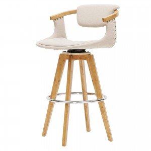 Darwin KD Fabric/Bamboo/Wood Counter Stool