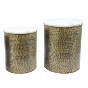 Kent Marble Side Table, Set of 2