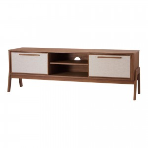 "Heaton 60"" KD PVC/MDF/Wood Veneer Low TV Stand"