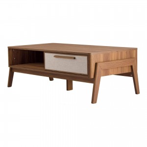 Heaton KD PVC/MDF/Wood Veneer Coffee Table