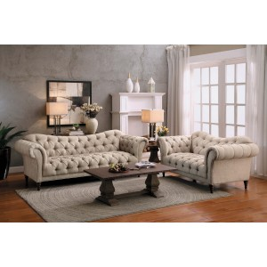 St Claire Fabric Living Room Set by Homelegance