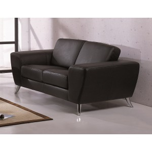 Julie Loveseat, Black by Beverly Hills Furniture