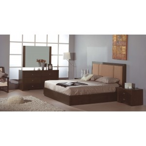 Atlas Bedroom Set, Taupe Fabric by Beverly Hills Furniture
