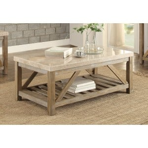 Ridley Marble Coffee Table by Homelegance