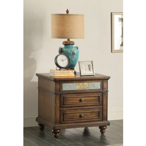 Chehalis Wood Veneer End Table by Homelegance