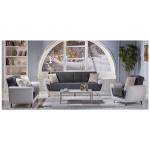 Duru Living Room Set (Sofa + Loveseat + Armchair) by Sunset (Istikbal) Furniture