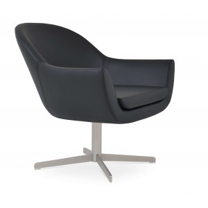 Madison 4 Star Armchair, Black Leatherette by SohoConcept Furniture