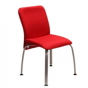 Verso Armless Visitor Chair, 4-leg Base