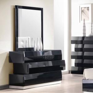 Milan Modern Lacquer Dresser with Mirror