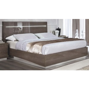 Platinum Legno Wood/LED Platform Euro Bed