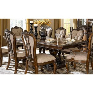Bonaventure Park Traditional Rectangular Wood Extendable Dining Table by Homelegance