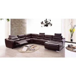 2144 Leather/Eco-Leather Reclining Sectional by ESF Furniture