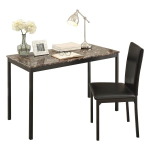 Tempe Metal Writing Desk w/Chair by Homelegance by Homelegance