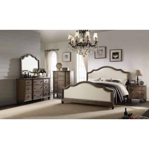 Baudouin Wood/Linen Panel Bedroom Set